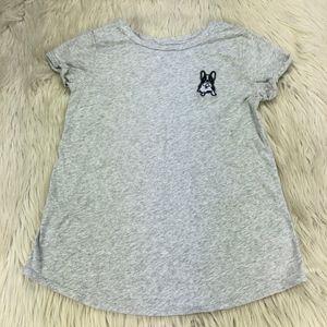 LOFT French Bulldog Crew Neck T-Shirt